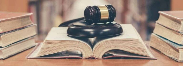 gavel on a book
